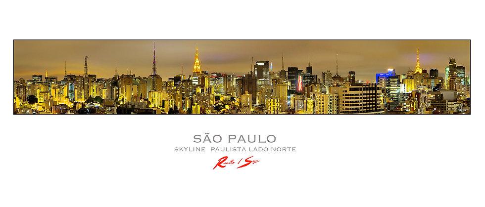 Pôster - Skyline Paulista Lado Norte cor