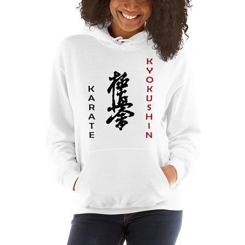 Kyokushin Unisex Hoodie D5 | White