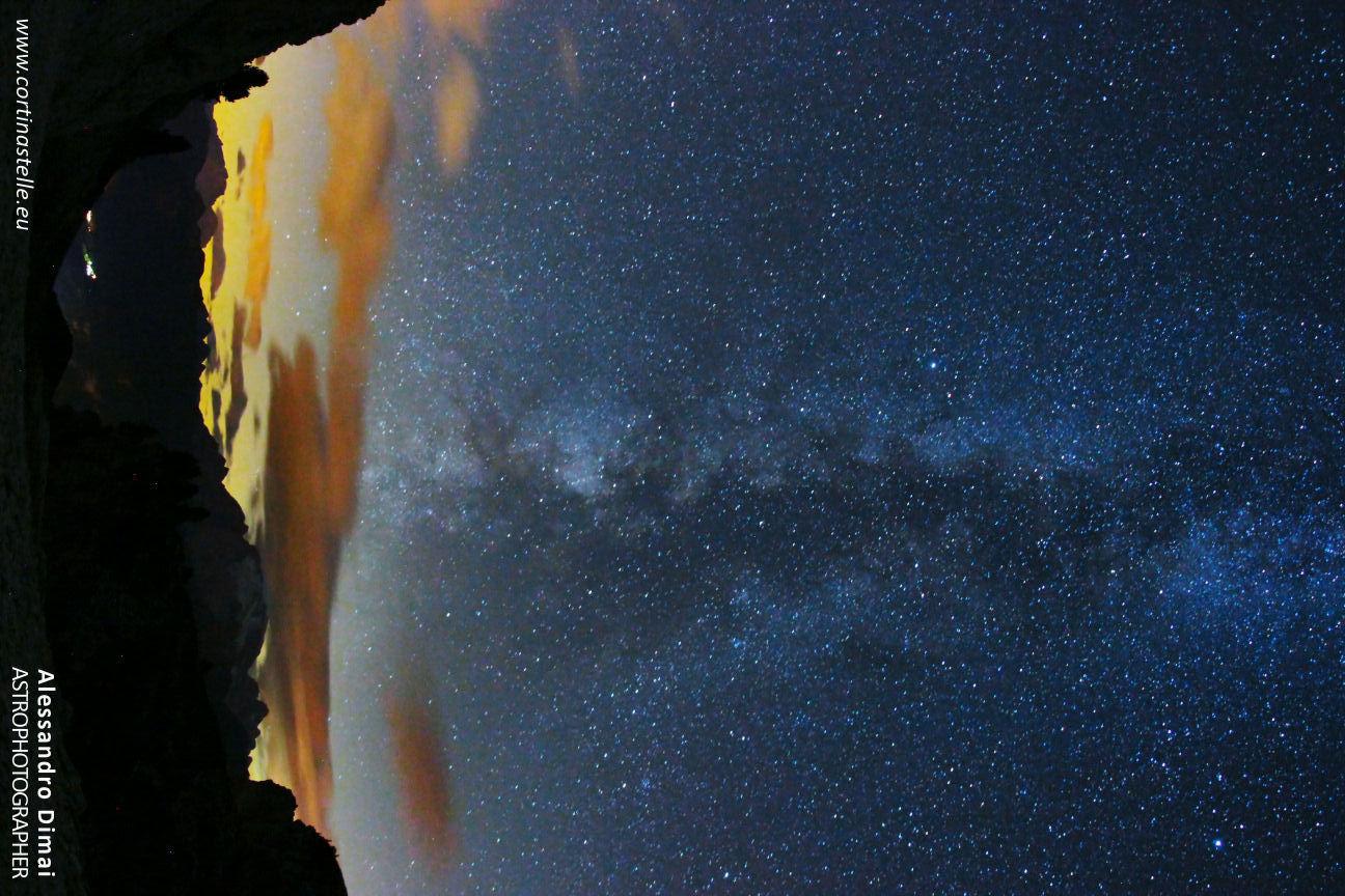 la Via Lattea sopra la Marmolada