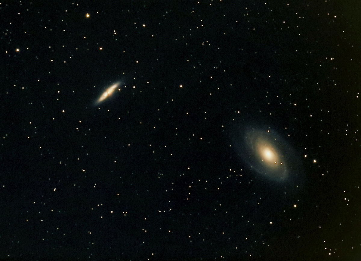 le galassie M81 e M82 in Ursa Major