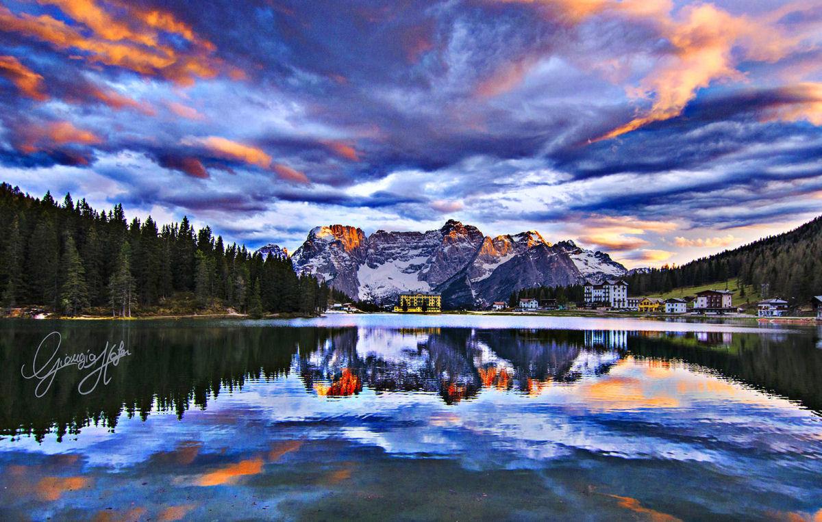 A_tramonto_LagoMisurina