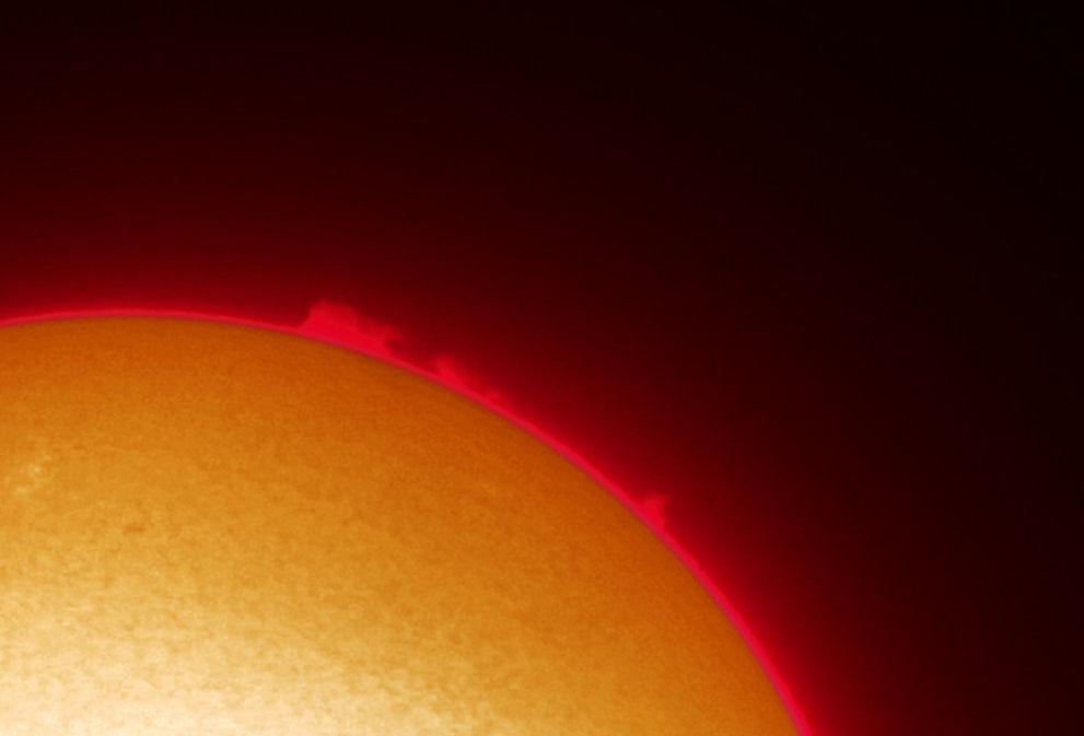 protuberanze solari in H alfa