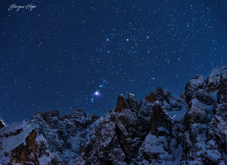 Orione e le Dolomiti