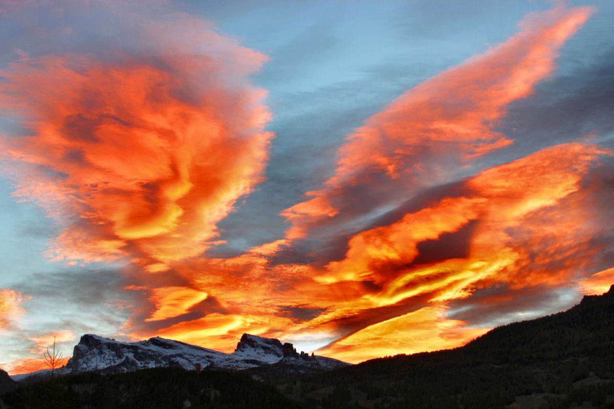 spettacolare tramonto a Cortina