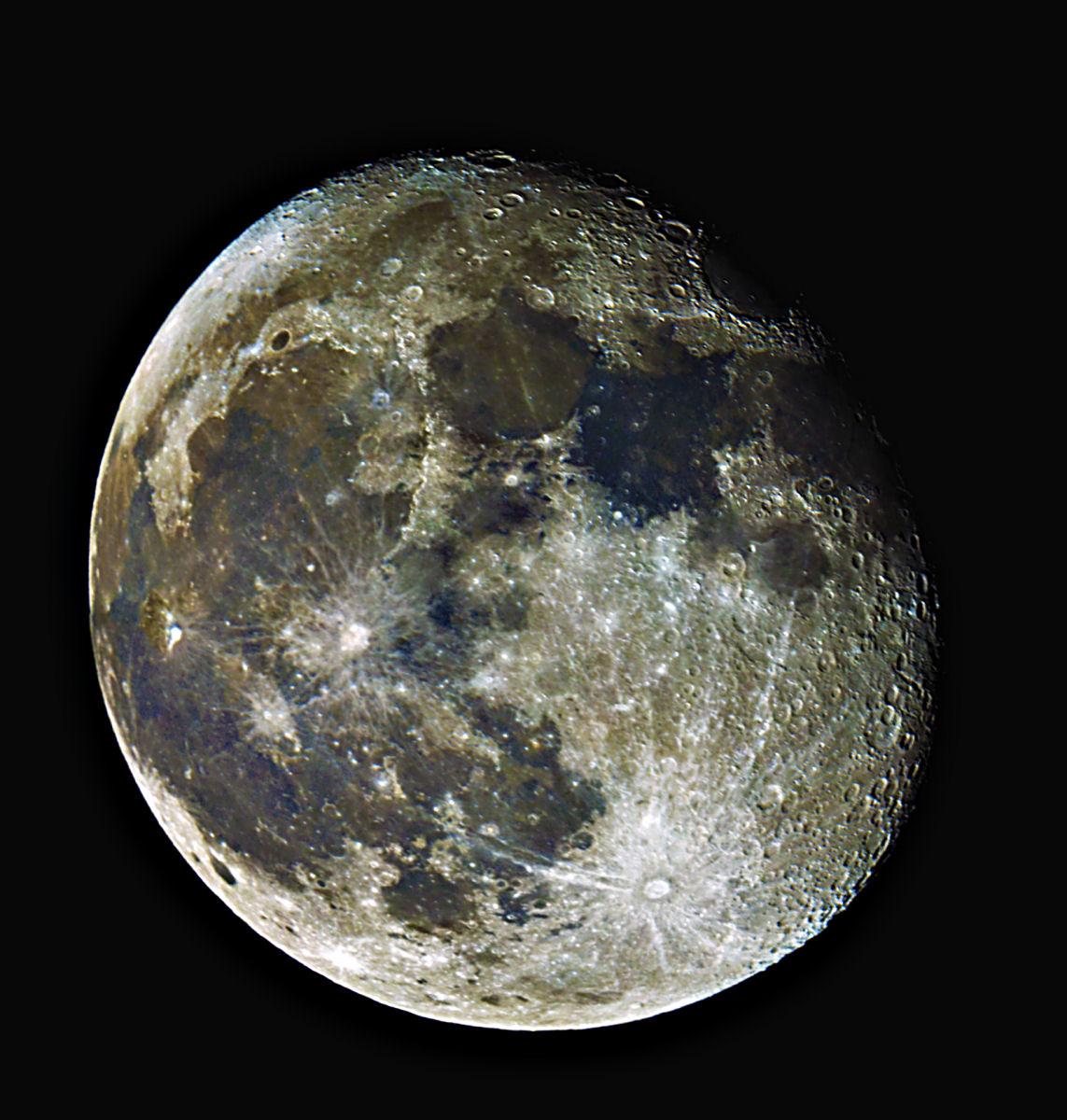 la Luna al 17* giorno