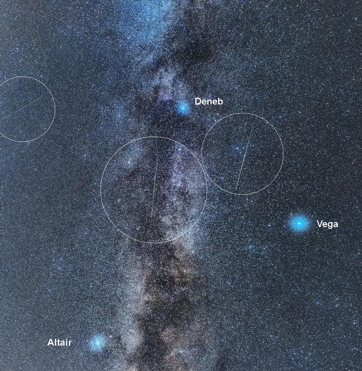 Via Lattea e Perseidi (particolare)