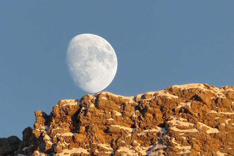 la Luna al tramonto da Lerosa