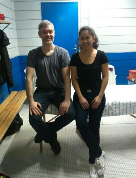 Isabelle Tan et Jose Herrero Cortés, praticien acupuncteur et infirmière (bientôt) acupunctrice du Pôle de Thérapeutes au Championnat de France de Kung Fu Wushu 2017.