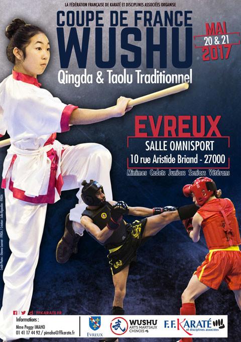 Affiche de la Coupe de France Wushu 2017