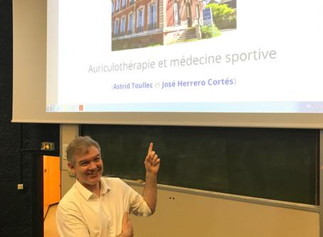 Présentation à la Faculté de Médecine de nos recherches en Auriculothérapie et Acupuncture.