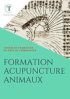 BROCHURE DE LA FORMATION ACUPUNCTURE ANIMALE