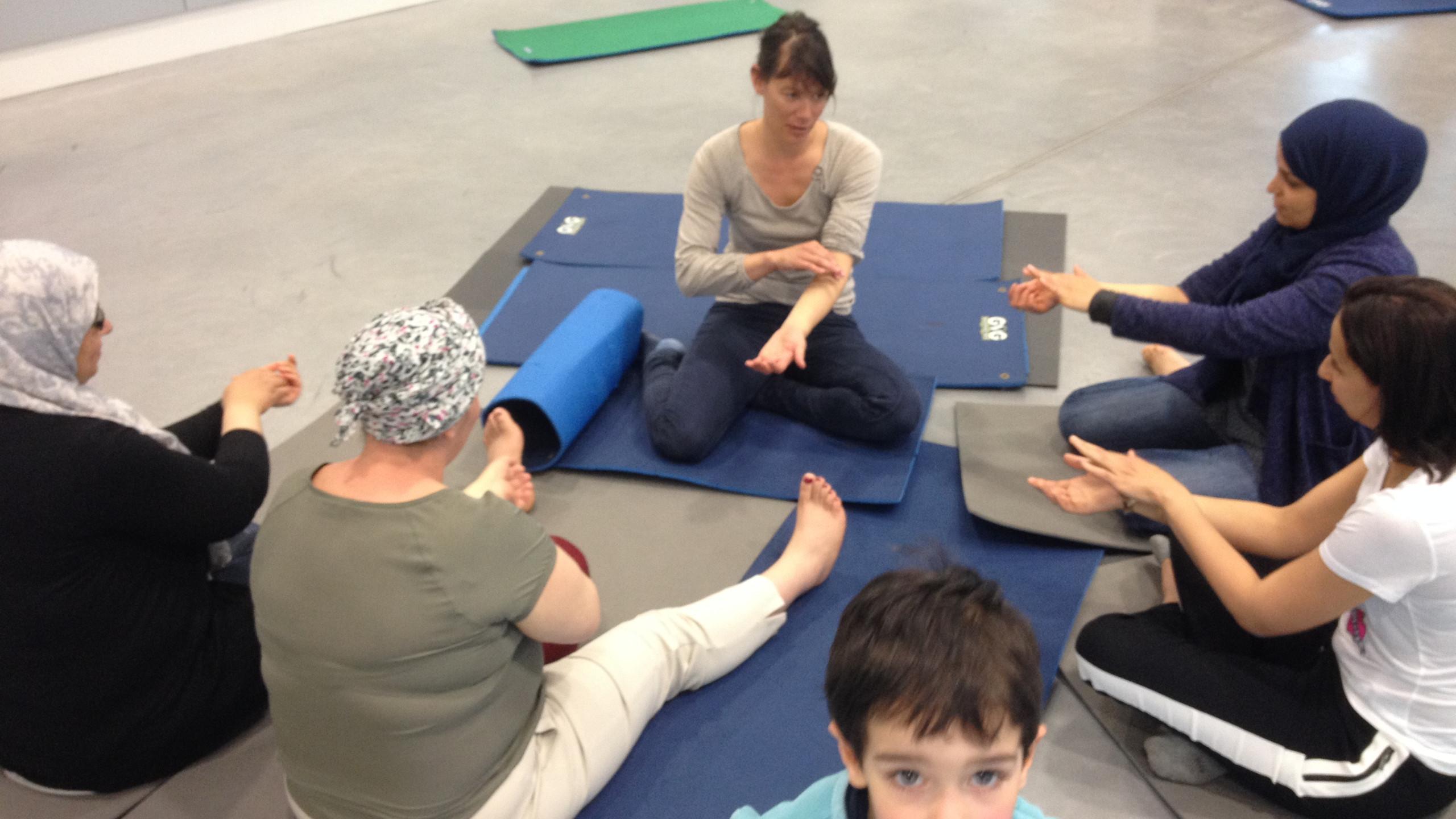 Atelier Préservation de la Santé par le massage du Pôle de Thérapeutes avec l'association La Soucoupe