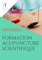 BROCHURE DE LA FORMATION ACUPUNCTURE SCIENTIFIQUE
