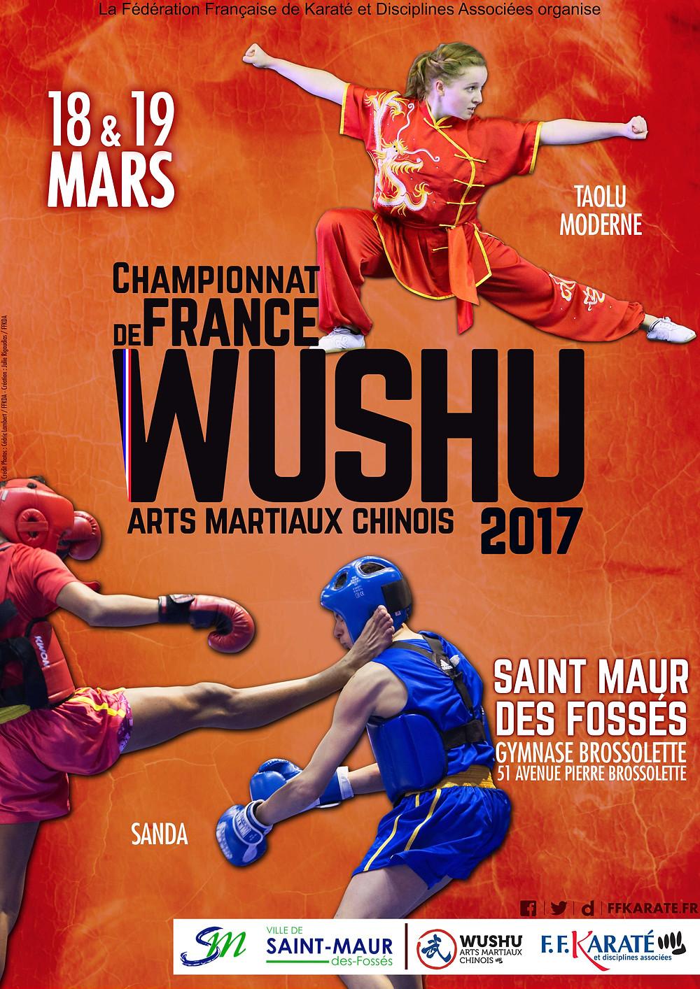 Le Pôle de Thérapeutes sera présent au Championnat de France de Kung Fu 2017