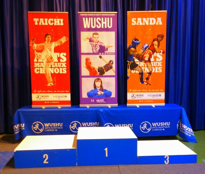 Podium du Championnat de France de Wushu - kung Fu et Tai Chi