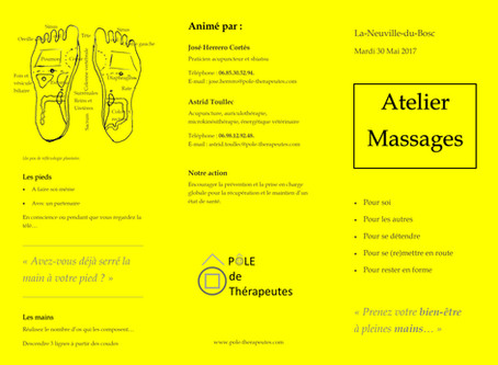 Atelier de massages pour l'Association sportive Gym Volontaire