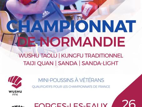 Pratiques réelles en compétition : Championnat de Normandie de Kung Fu - Wushu (2019)