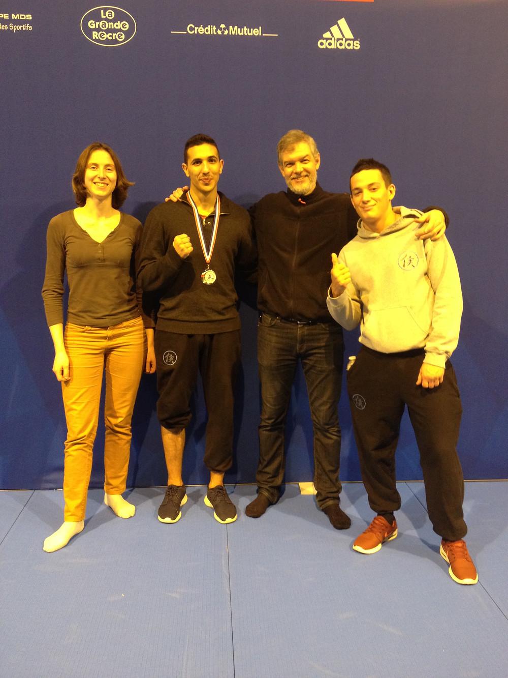 Le Pôle de Thérapeutes avec les champions de France de Kung Fu Wushu 2017