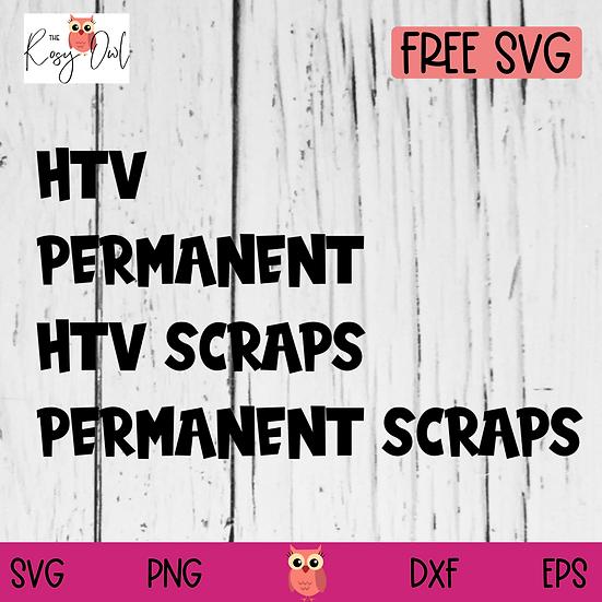 HTV   Adhesive Vinyl Storage Labels