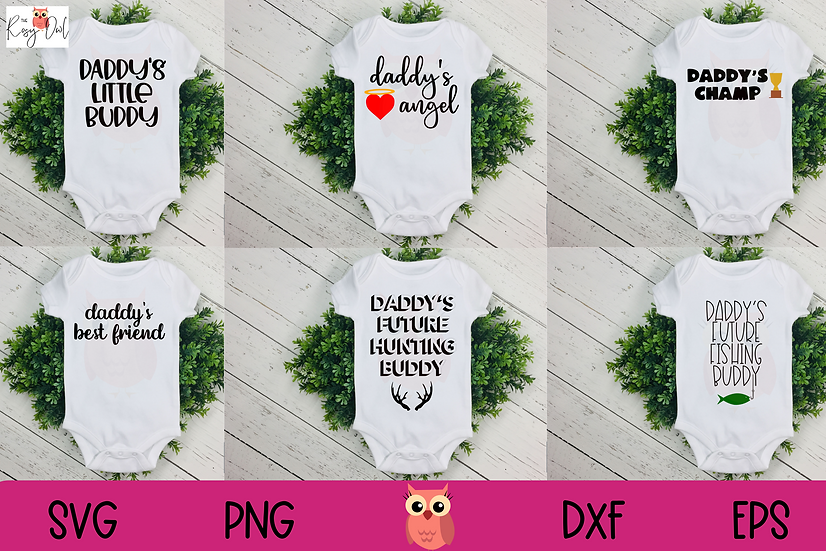 Daddy Child SVG Bundle SVG | Daddy's Little SVGs