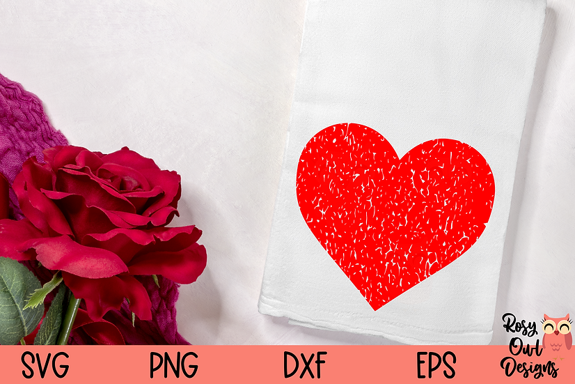 Grunge Heart SVG   Distressed Heart SVG   Valentine SVG