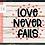 Thumbnail: Love Never Fails SVG PNG DXF EPS