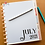 Thumbnail: Monthly Planner Divider   Dashboards   8.5in x 11in