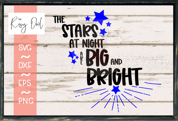 Stars at Night SVG PNG DXF EPS