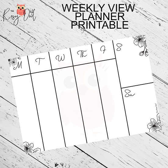 Floral Weekly Printable | Digital Download | Weekly Planner Sheet