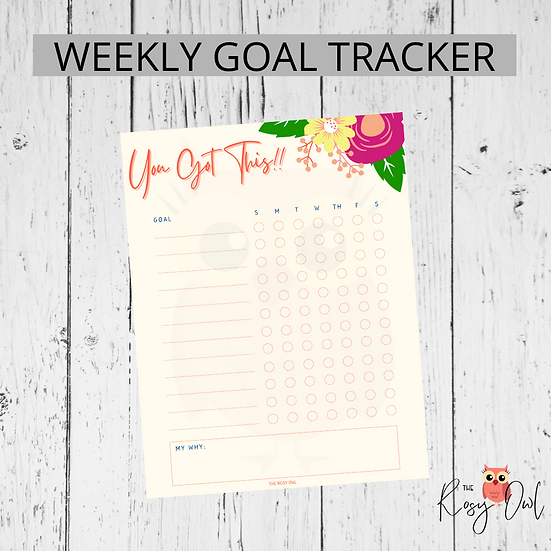 Goal/Habit Tracker | Printable | Digital Download