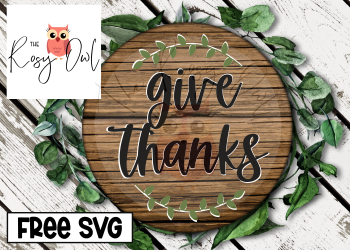 Give Thanks SVG