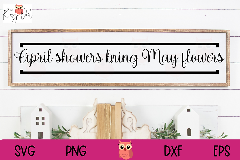 April Showers SVG | May Flowers SVG