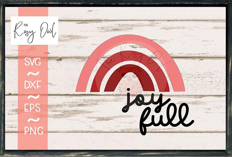 Joy Full / Rainbow  SVG PNG DXF EPS