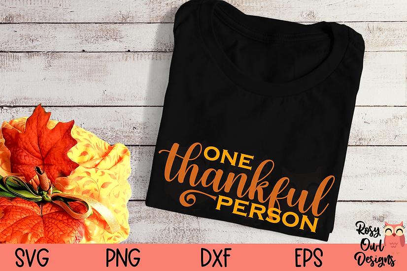 One Thankful Person SVG | Thankful SVG