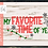 Thumbnail: My Favorite Time of Year SVG PNG DXF EPS