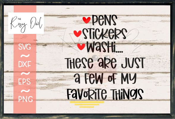 Favorite Things - Planner Edition SVG PNG DXF EPS