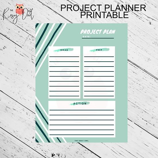 Project Plan Printable   Digital Download