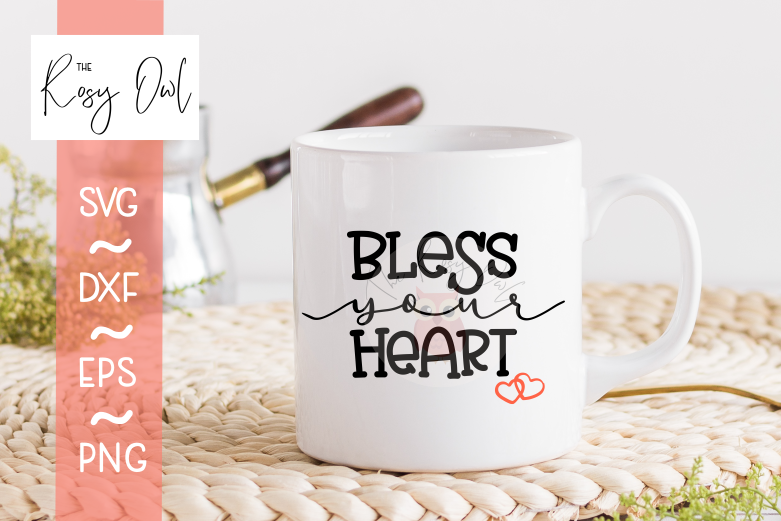 Bless Your Heart SVG PNG DXF EPS