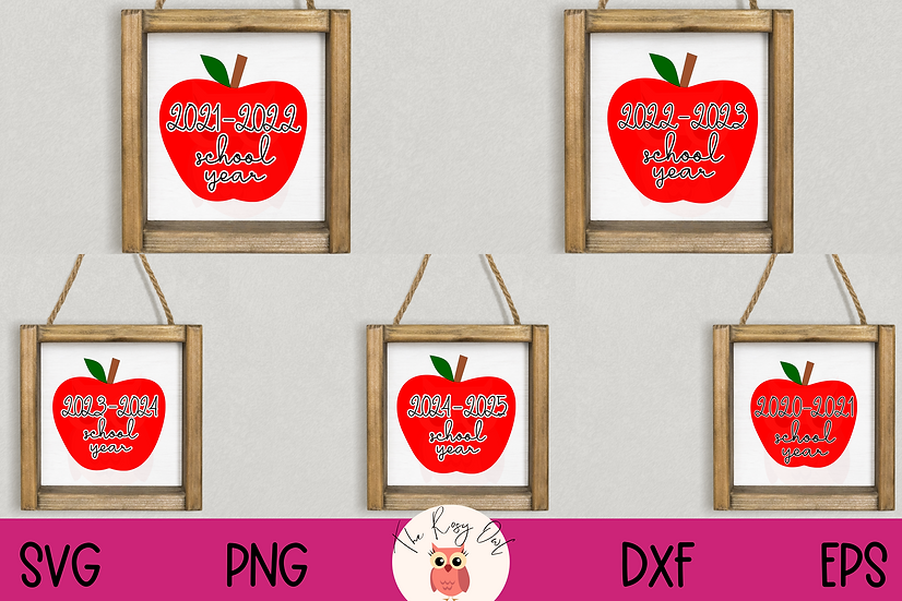 School Year SVG Bundle | Current and Upcoming School Year SVG Bundle