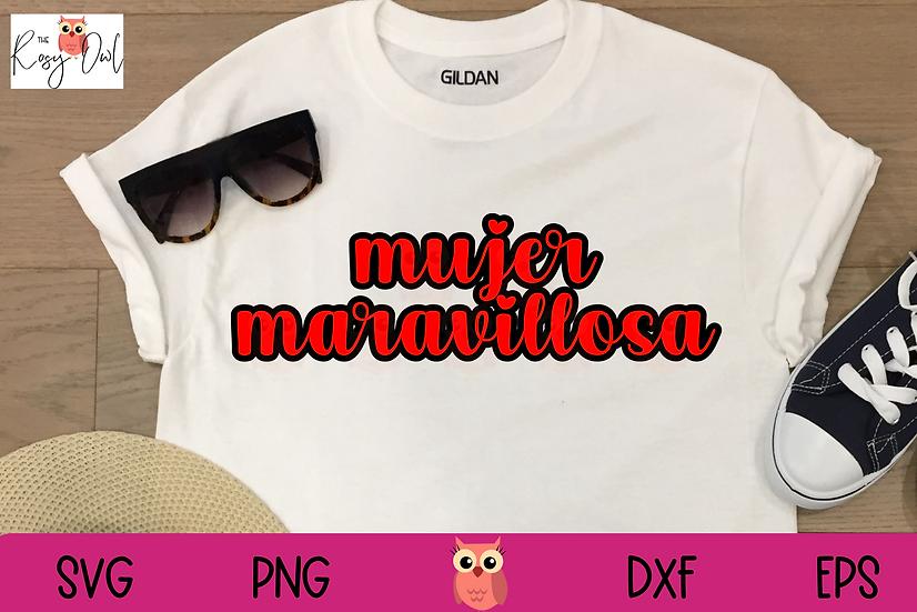 Mujer Maravillosa SVG | Spanish | Latina | Latinx SVG