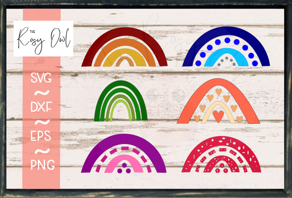 Rainbow Bundle SVG PNG DXF EPS