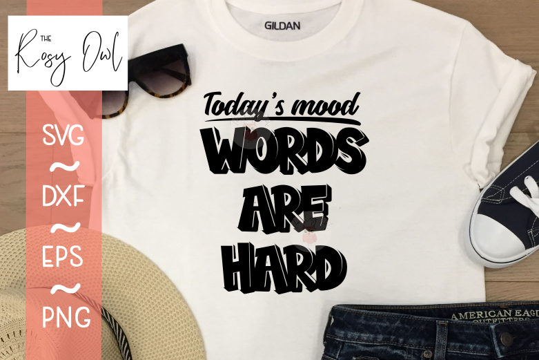 Words are Hard SVG PNG DXF EPS