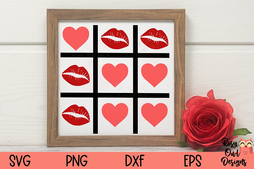 Hearts Tic Tac Toe SVG | Valentine SVG