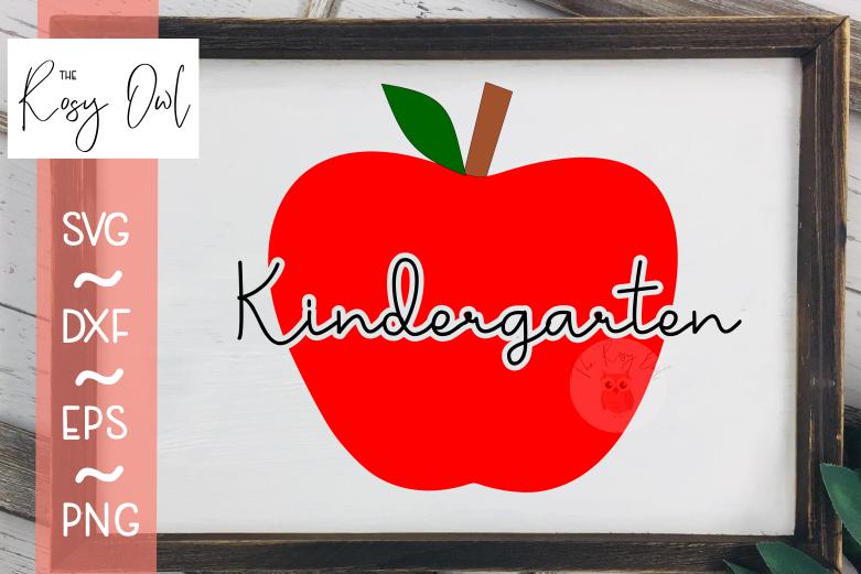 Kindergarten Apple SVG PNG DXF EPS