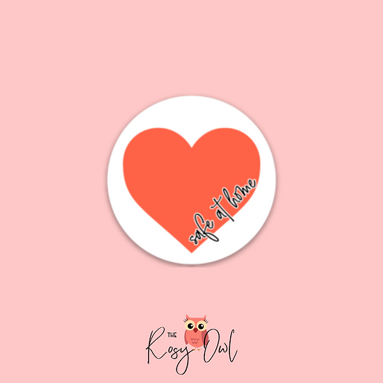 Safe at Home Heart Sticker/Decal