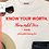 Thumbnail: Know Your Worth SVG PNG DXF EPS