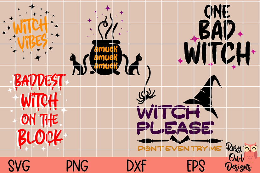 Witch SVG Bundle   Halloween SVGs