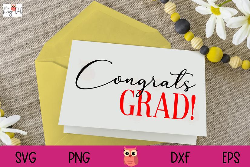Congrats Grad SVG | Graduation SVG | Congratulations SVG