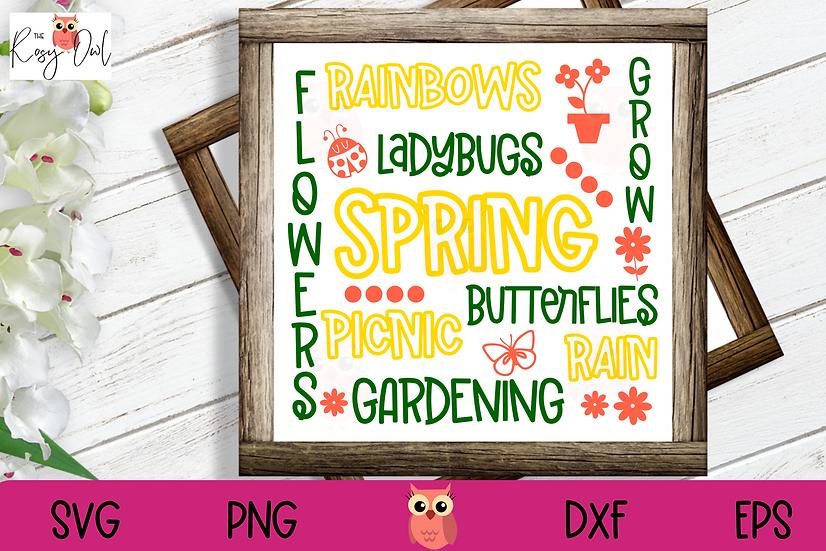 Spring Subway Art SVG | Spring TimeSVG | Subway Art SVG