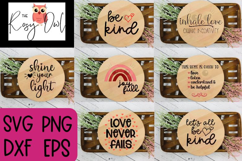 Positive Phrase SVG Bundle | Kindness SVGs | Inspirational SVGs